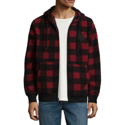 Zoo York Long Sleeve Sherpa Checked Hoodie