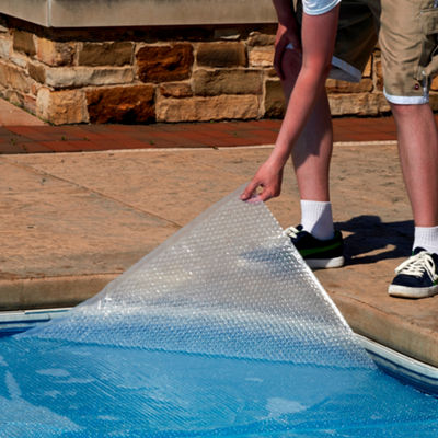 Blue Wave Rectangular 14-mil Solar Blanket for In Ground Pools - Clear