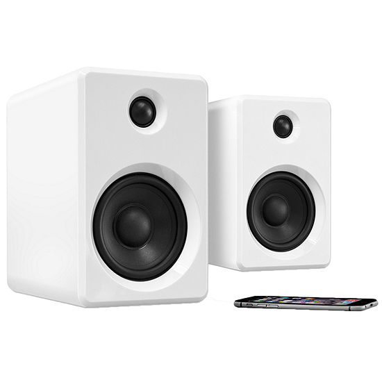 Innovative Technology Rechargeable Bluetooth Wireless 50 Watt Bookshelf Speakers