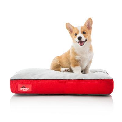 Brindle Plush Shredded Memory Foam Dog Bed