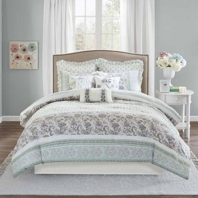 Madison Park Paolina 9-pc. Floral Comforter Set