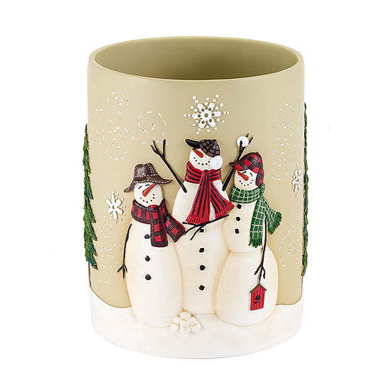 Avanti Snowmen Gathering Waste Basket