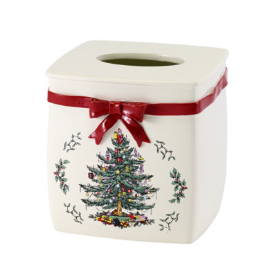 Avanti Spode Christmas Tree Tissue Box Cover
