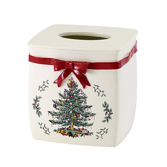 Avanti Spode Christmas Tree Tissue Box Cover