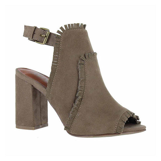 Mia Girl Womens Laura Booties Stacked Heel