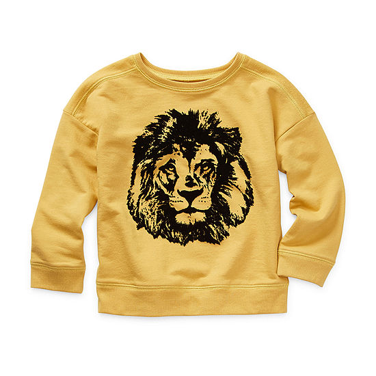 Okie Dokie Little Boys Crew Neck Long Sleeve Sweatshirt