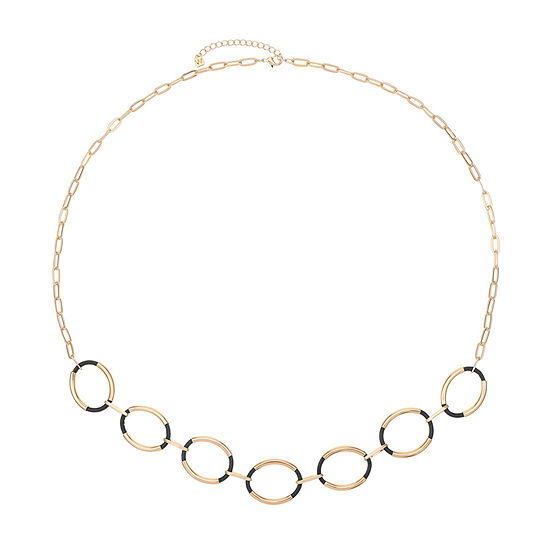 Worthington 37 Inch Paperclip Strand Necklace