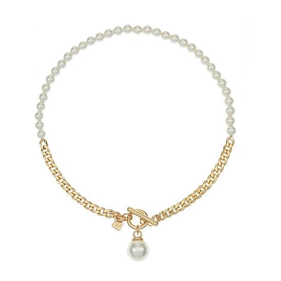 Worthington Simulated Pearl 19 Inch Curb Collar Necklace