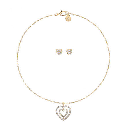 Mixit Heart Jewelry Set 2-pc., One Size , Yellow
