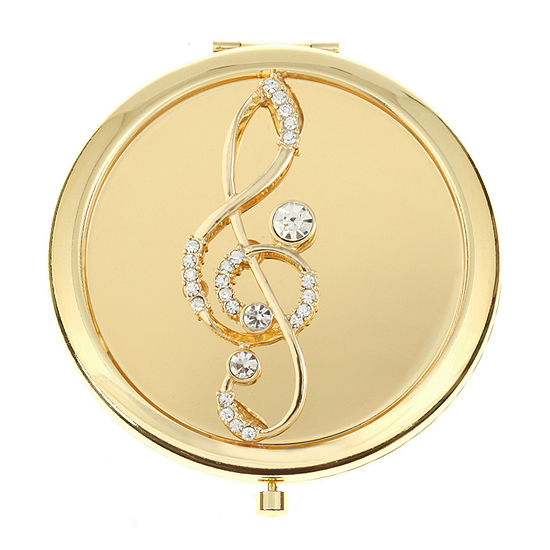 Monet Jewelry Music Note Compact Mirror