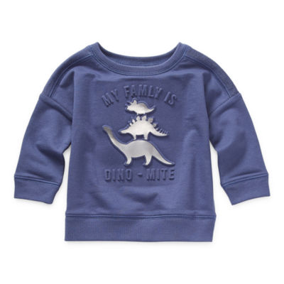Okie Dokie Baby Boys Crew Neck Long Sleeve Graphic T-Shirt