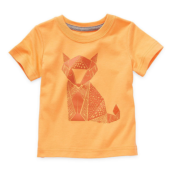Okie Dokie Baby Boys Crew Neck Short Sleeve T-Shirt