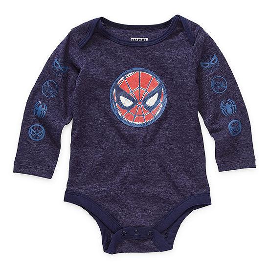 Okie Dokie Baby Boys Spiderman Bodysuit