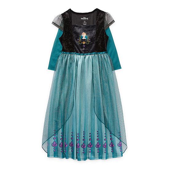 Disney Collection Little & Big Girls Frozen Short Sleeve Crew Neck Nightgown