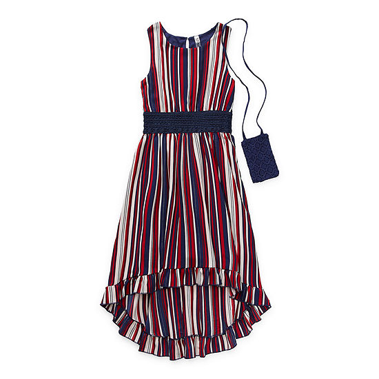 Beautees Casual Big Girls Sleeveless Striped Maxi Dress
