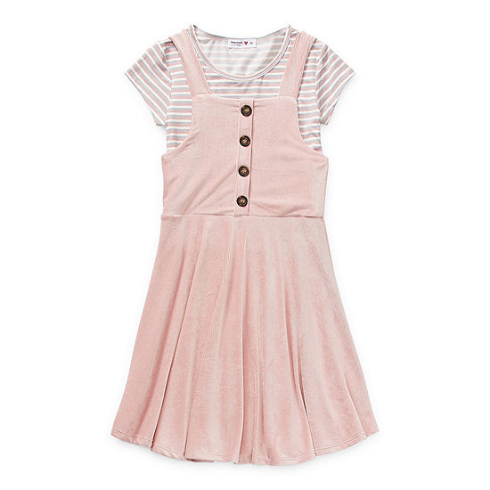 Beautees Casual Big Girls Sleeveless 2-pc. Dress Set