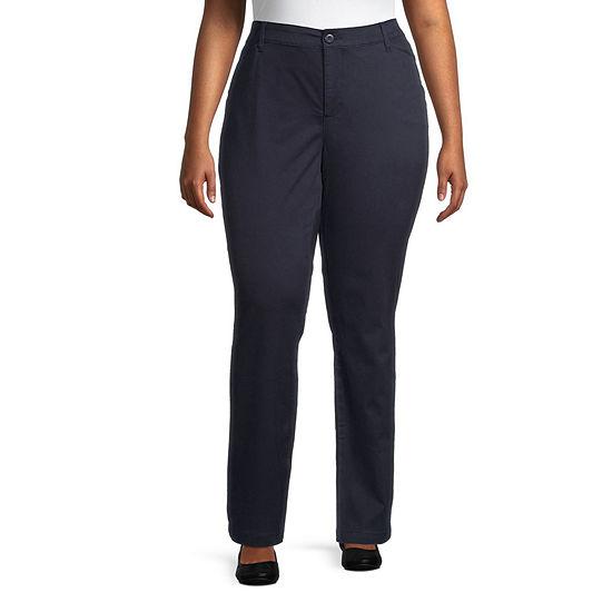 St. John's Bay Secretly Slender Womens Mid Rise Slim Pant-Plus