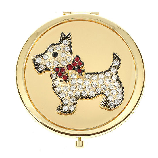 Monet Jewelry Dog Compact Mirror