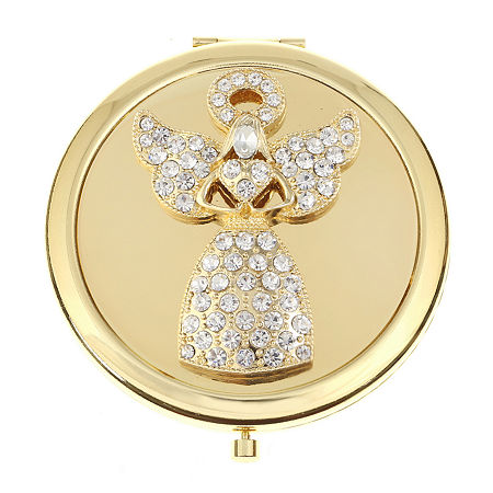 Monet Jewelry Angel Compact Mirror, One Size , White
