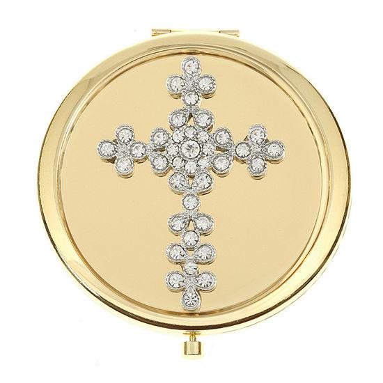 Monet Jewelry Cross Compact Mirror
