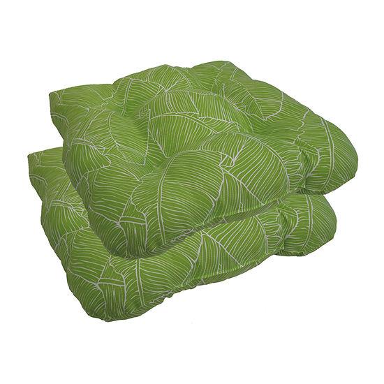 Home Fashions International Island Palms Patio Seat Cushion