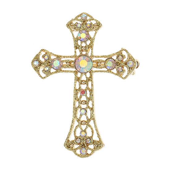Monet Jewelry Multi Color Cross Pin