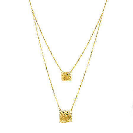 Womens 17 Inch 10K Gold Link Necklace, One Size