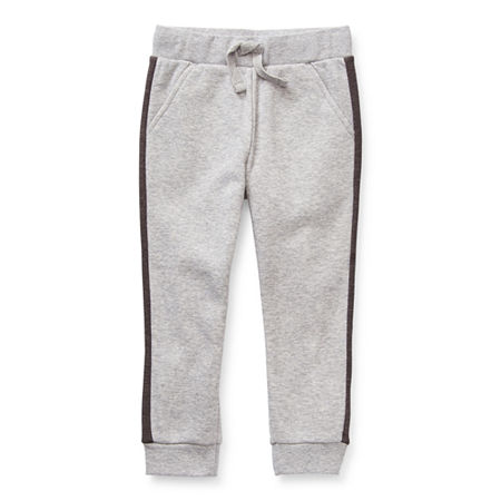 Okie Dokie Fleece Toddler Boys Mid Rise Cuffed Jogger Pant, 2t , Gray