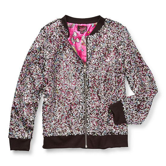Jojo Siwa Little & Big Girls Lightweight Bomber Jacket