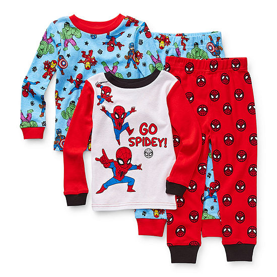 Disney Toddler Boys 4-pc. Spiderman Pajama Set