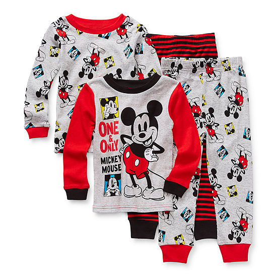 Disney Toddler Boys 4-pc. Mickey Mouse Pajama Set