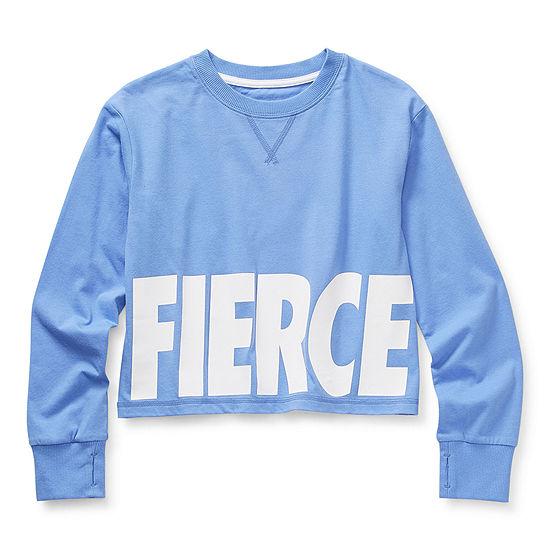 Xersion Little & Big Girls Round Neck Long Sleeve T-Shirt