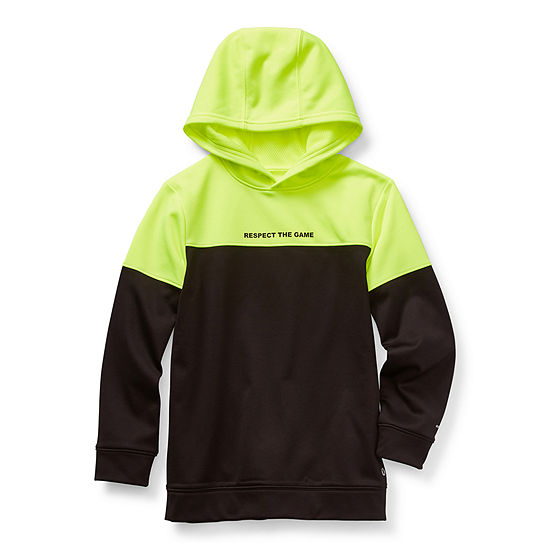 Xersion Performance Fleece Little & Big Boys Cuffed Sleeve Moisture Wicking Hoodie
