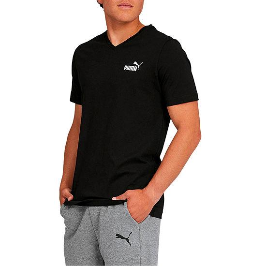 Puma-Big and Tall Mens V Neck Short Sleeve T-Shirt