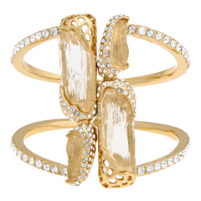 10021   Kara Ross Crystal Wide-Line Cuff