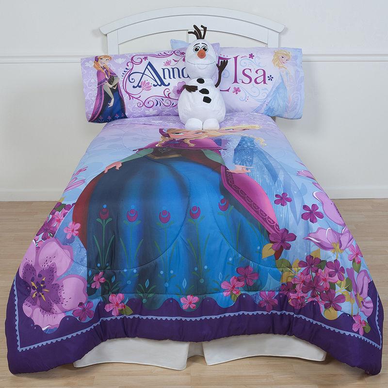Disney Frozen Celebrate Love Microfiber Reversible Comforter, Pink|multi, Twin