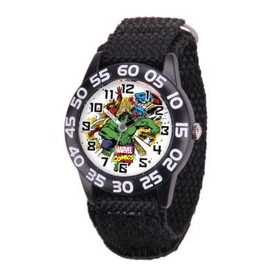 Marvel® Avenger Kids Time Teacher Black Nylon Strap Watch