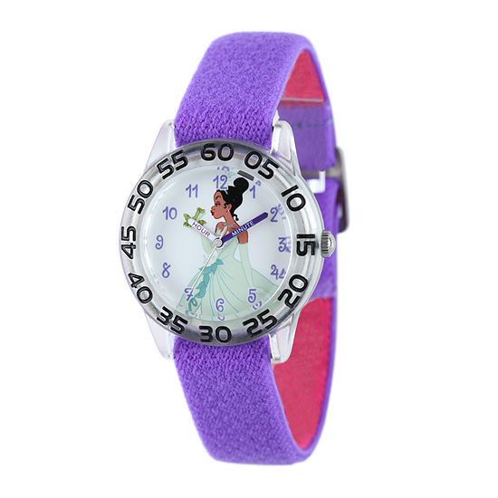 Disney Tiana Kids Time Teacher Purple Nylon Strap Watch