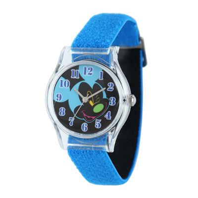Disney Mickey Mouse Kids Blue Nylon Strap Watch