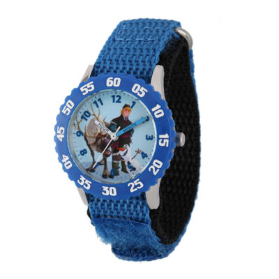 Disney Frozen Sven, Kristoff and Olaf Kids Time Teacher Blue Nylon Strap Watch