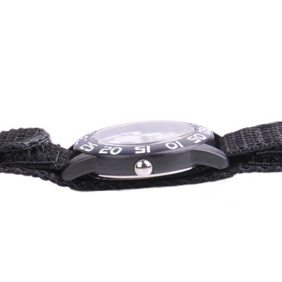 Disney Frozen Sven and Olaf Kids Time Teacher Black Nylon Strap Watch