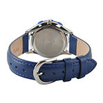 Disney Mickey Mouse Kids Time Teacher Blue Leather Strap Watch