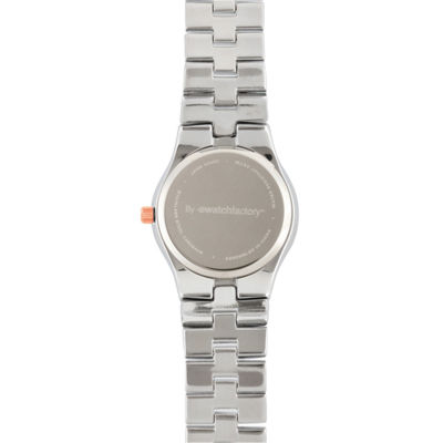 Personalized Dial Womens Diamond-Accent Two-Tone Bracelet Watch