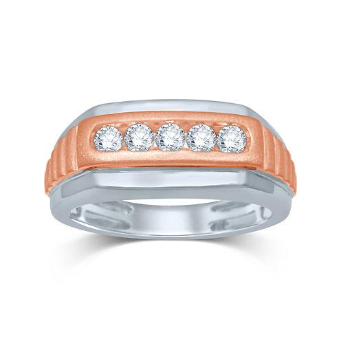 Mens 1/2 CT. T.W. Diamond 10K Two-Tone Gold Ring