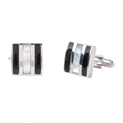 Collection by Michael Strahan Enamel and Mother-of-Pearl Cuff Links