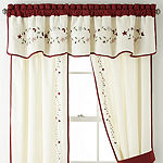Home Expressions Light-Filtering Rod-Pocket Set of 2 Curtain Panel