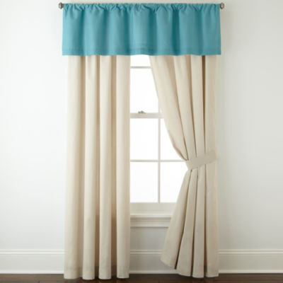 JCPenney Home™ Cotton Classics 2-Pack Rod-Pocket Curtain Panels