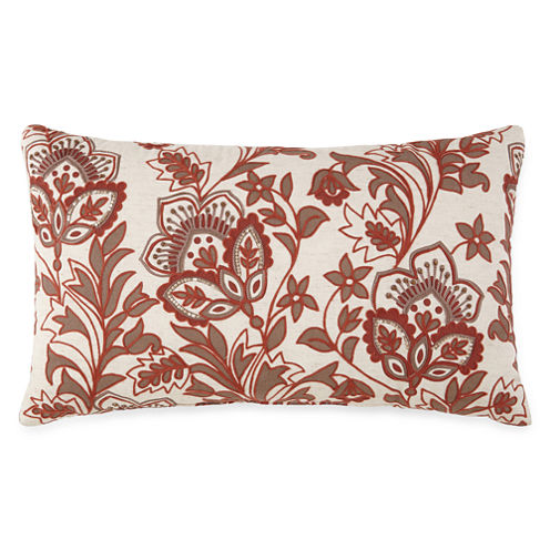JCPenney Home™ Jacobean Embroidered Decorative Pillow