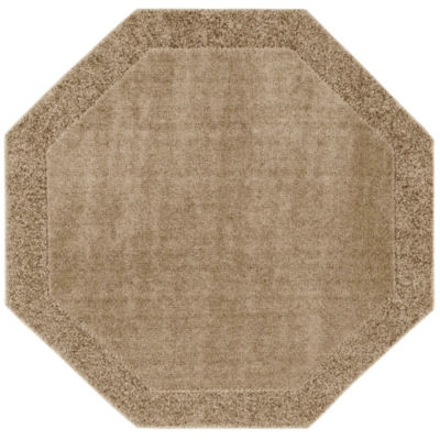 JCPenney Home™ Shag Border Washable Octagonal Rug