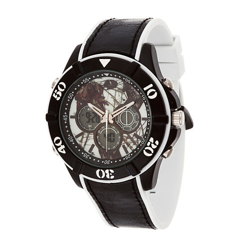 Mossy Oak Mens Black Bracelet Watch-Mow079bk-Wt